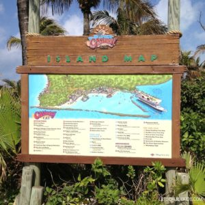 Disney's Private Island in Bahamas - Castaway Cay Map