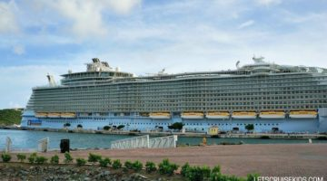 Royal Caribbean Oasis of the Seas docked at port - Let's Cruise Kids blog