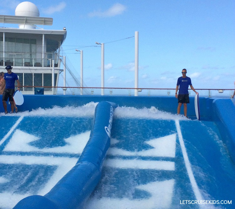 Royal Caribbean offers cruisers unique experiences like FlowRider surf simulator